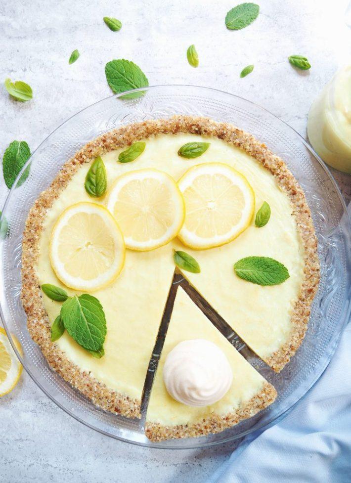 Tarte au citron végane et meringue à l'aquafaba (jus de pois chiches)