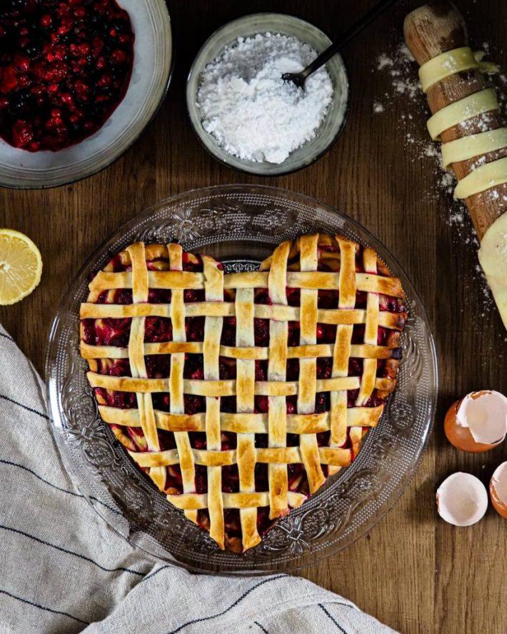 Tarte aux fruits rouges et crème pâtissière au citron ( spécial Saint Valentin)