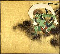 Fujin (Wind God), painting by Ogata Korin, Edo Era, Tokyo National Museum