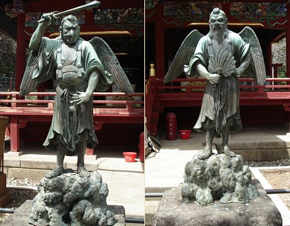 Karasu Tengu and Yamabushi Tengu, Yakuoin Temple, Mt. Takao, Photos by Lisa A. Scheinin