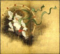 Raijin (Thunder God), painting by Ogata Korin, Edo Era, Tokyo National Museum