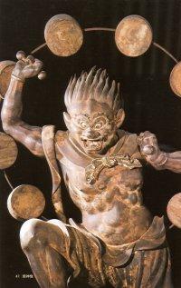 Raijin, Thunder God, Sanjusangendo in Kyoto