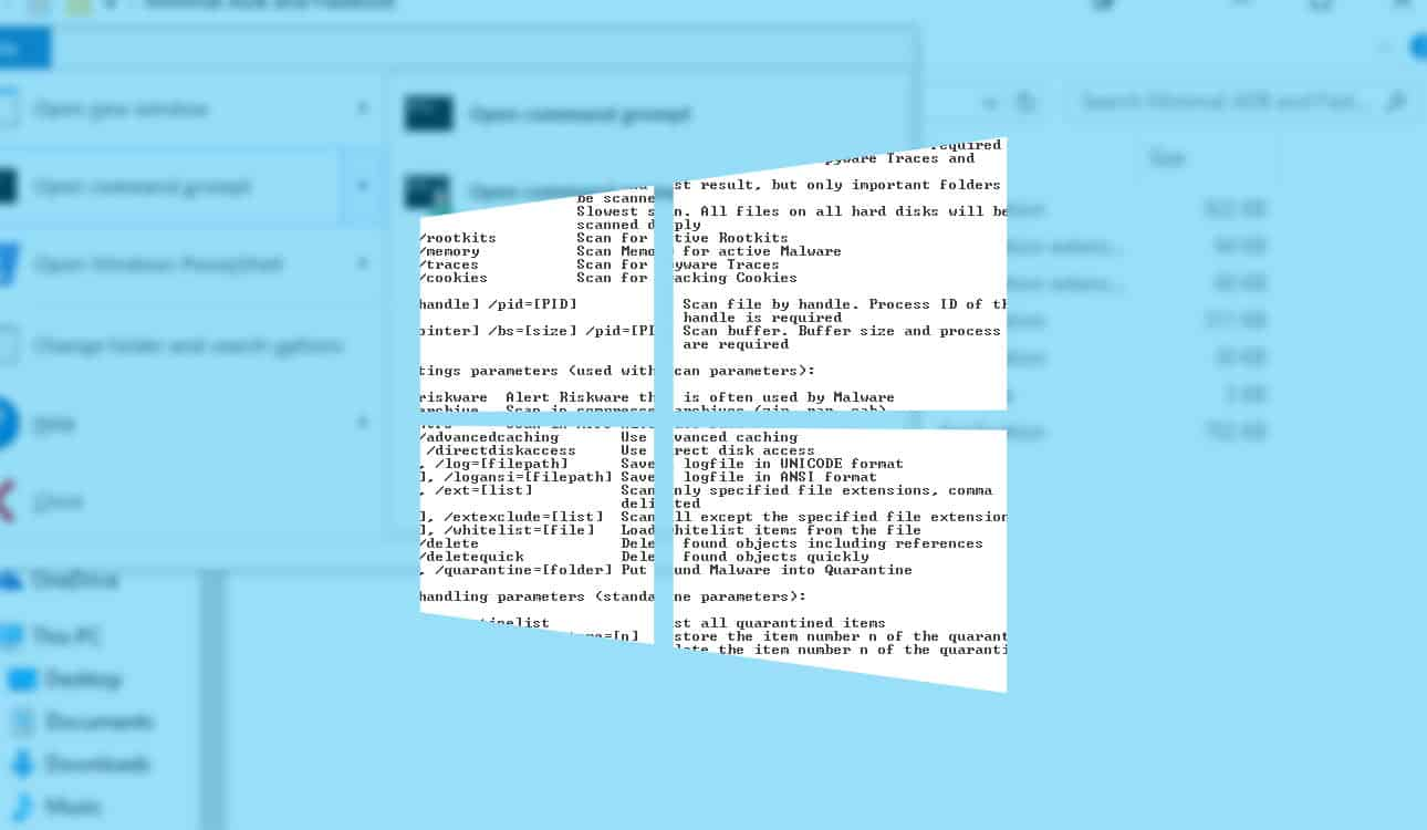 How to open Command Prompt in a specific Windows 10 file