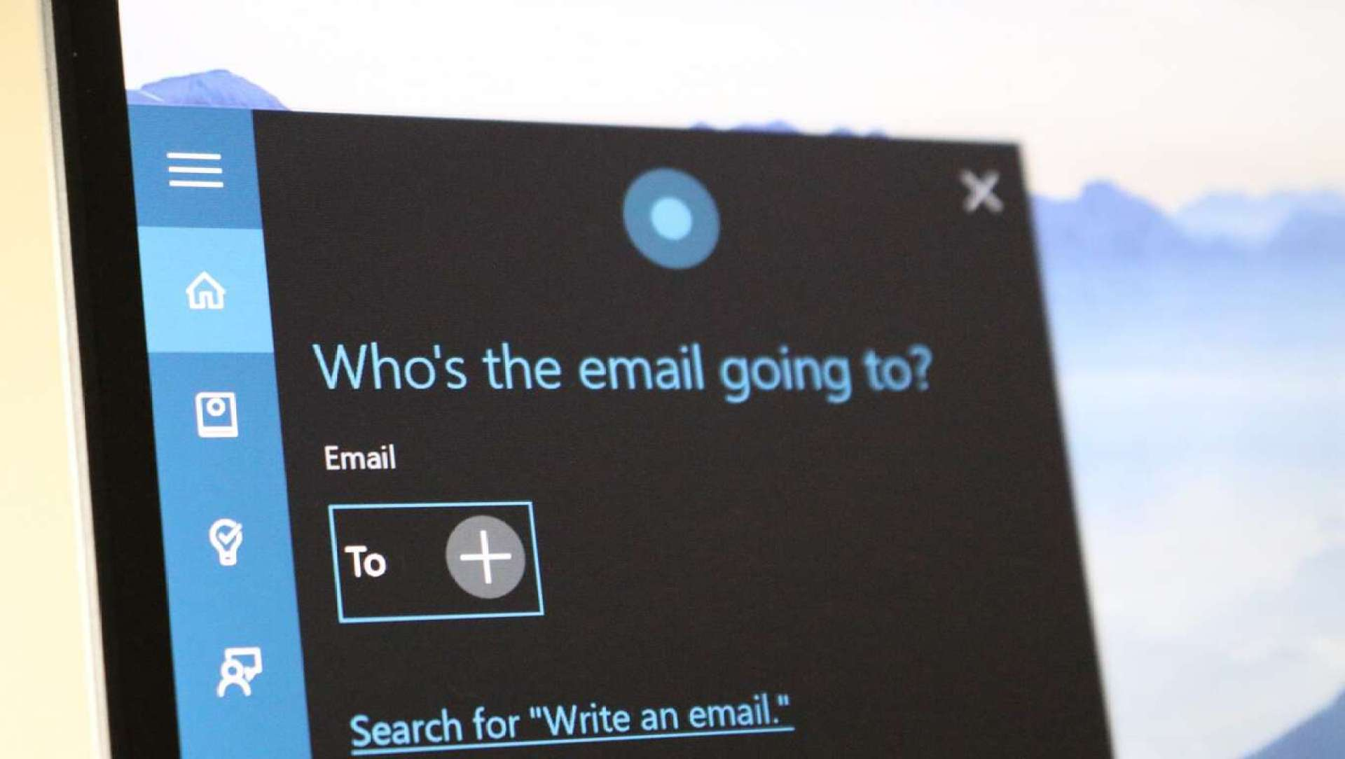 cortana email lead