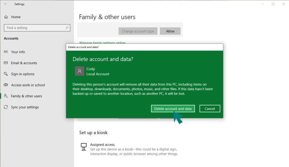 delete windows account picture