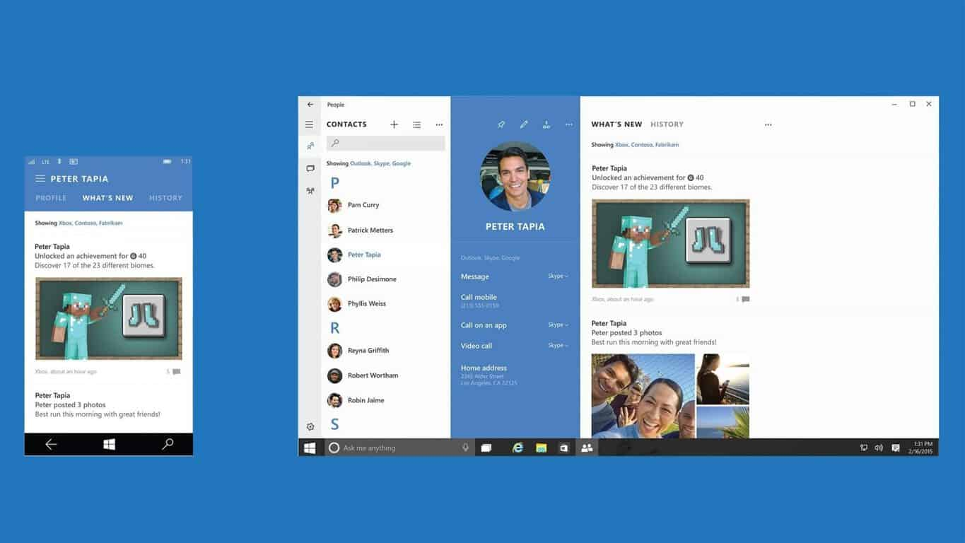 Import contacts from Outlook into the People app on Windows
