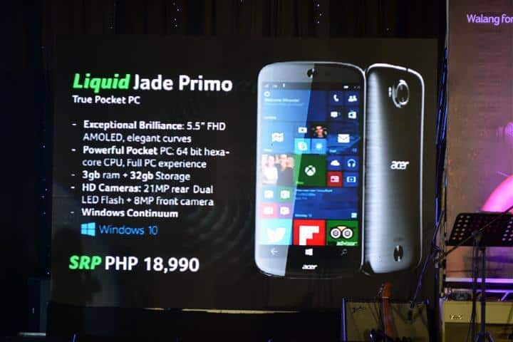 The Acer Jade Primo has decent enough specs for a $410 phone.