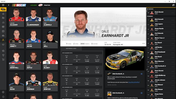NASCAR app for Windows 10