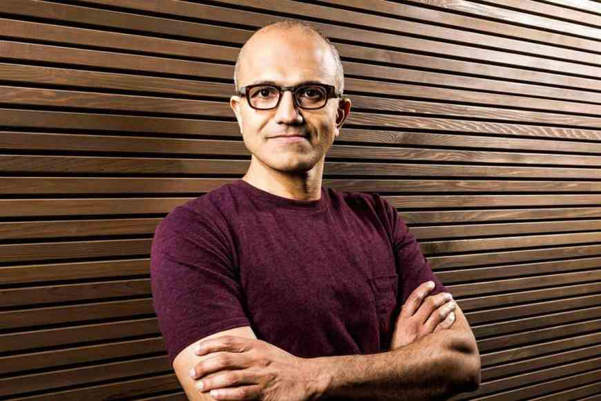 "Microsoft's Satya Nadella shows off his ""iPhone Pro"" 