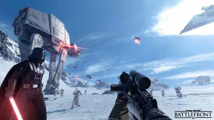 Star Wars Battlefront Battle of Hoth.