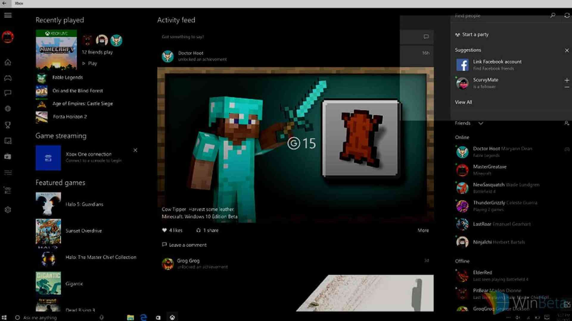 How to connect Facebook to Xbox Live