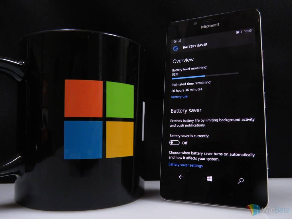 Lumia 950 Battery Saver