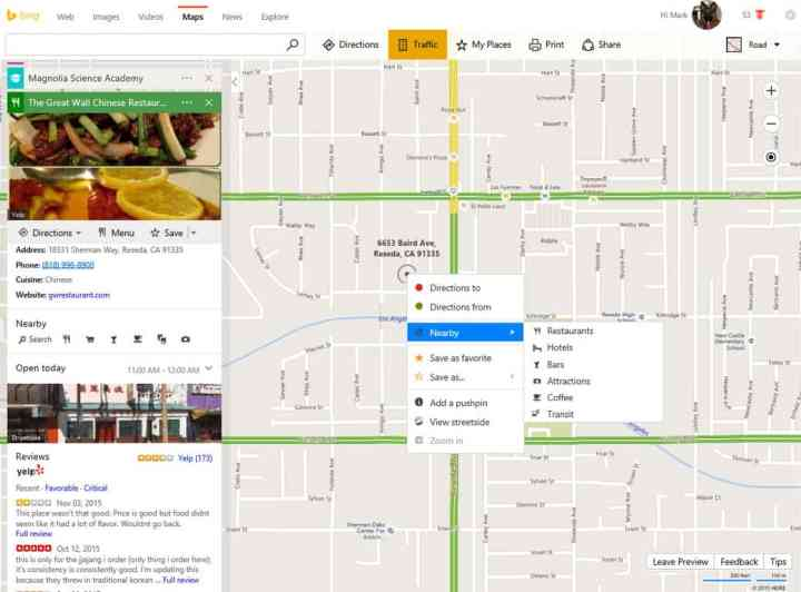 Look for a transit stop icon or right-click and see what's nearby.