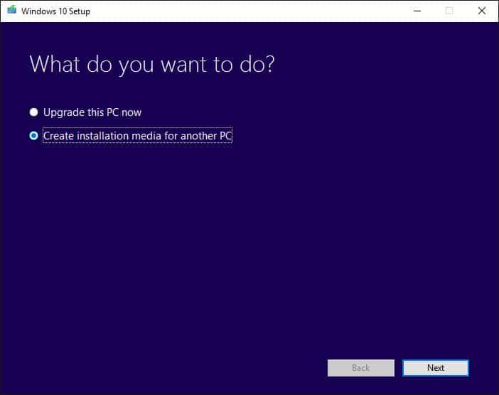 windows 10 64 bit media creation tool
