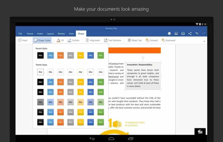 Microsoft Powerpoint, Word and Excel Android apps updated with Tell Me helper | On MSFT