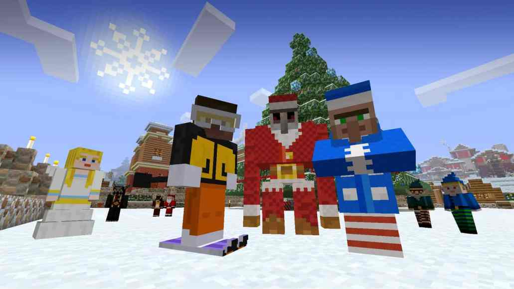Minecraft Holiday Skins Pack Now Available For Windows And Pocket - Skins para minecraft windows 10