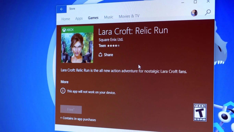 Lara Croft Windows Store