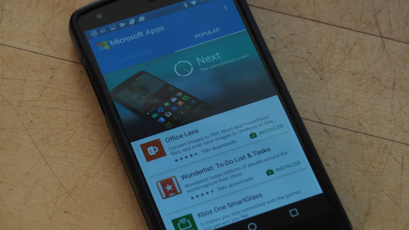 Microsoft Apps Android App
