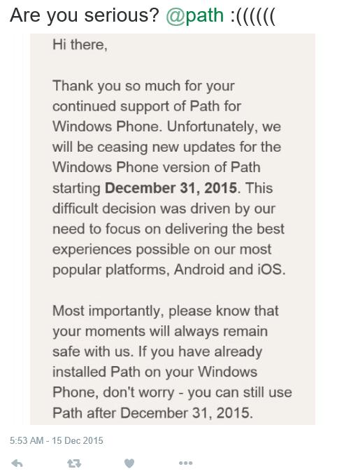 Path Windows Phone