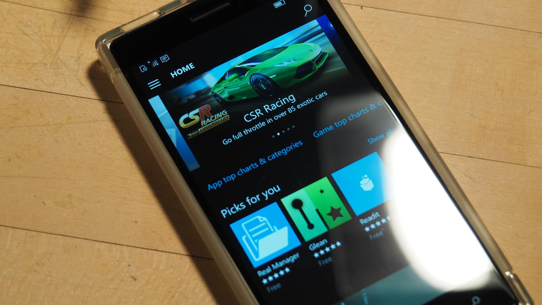 Windows 10 Mobile Store Update