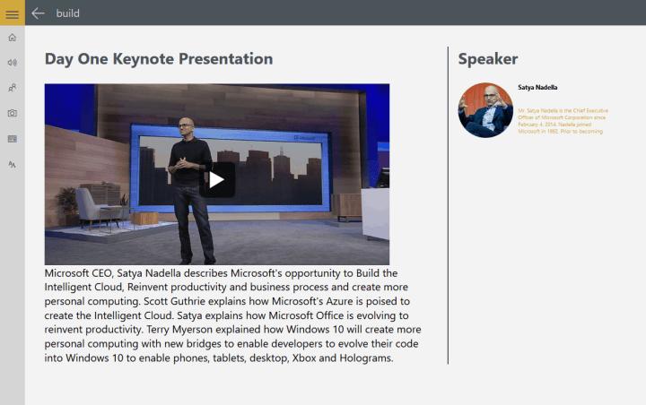 Windows App Studio Beta Update WordPress Events Template