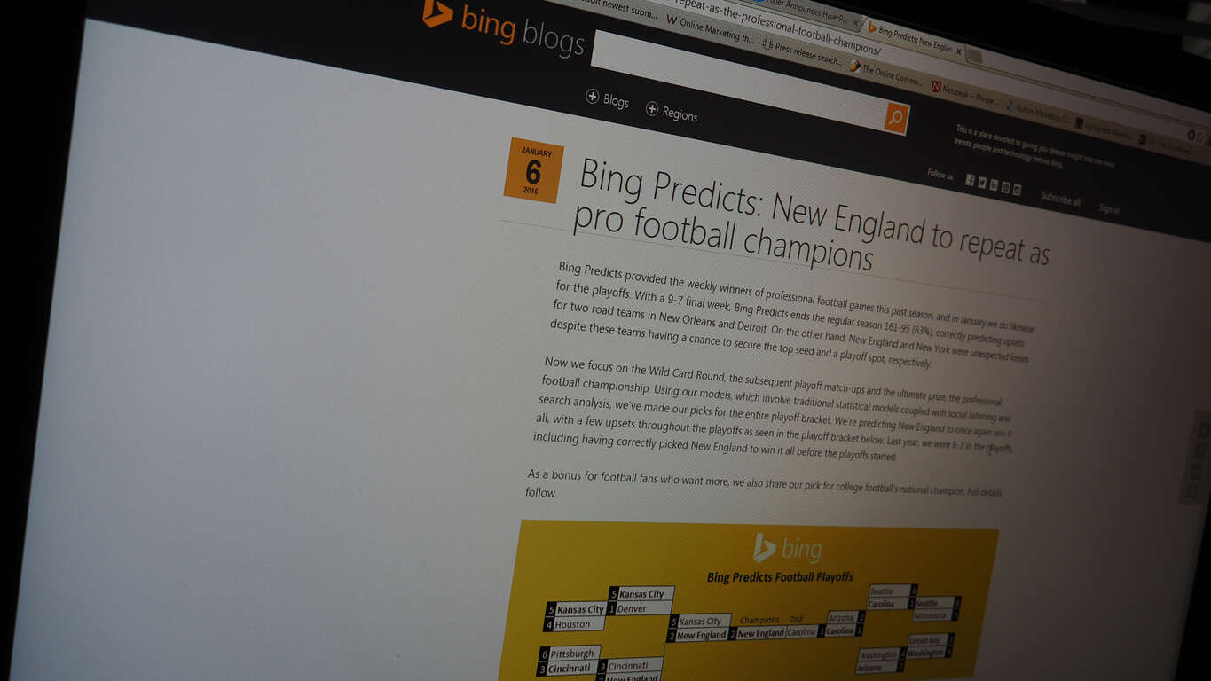Bing Predicts NFL Playoffs