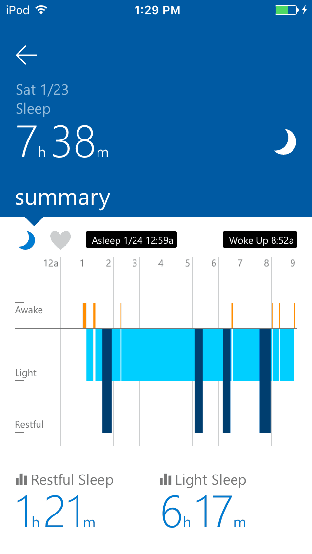 Microsoft Health App (And my lack of sleep)