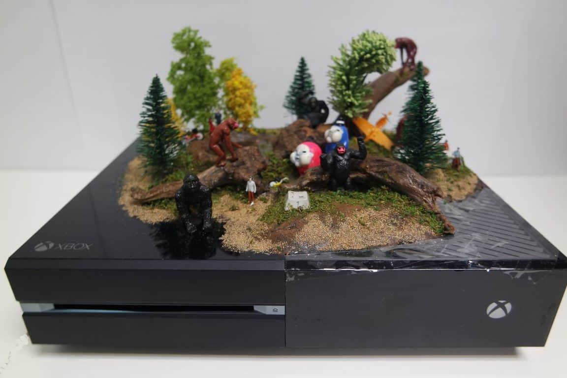 """Monkey Mountain"" custom Xbox One console"
