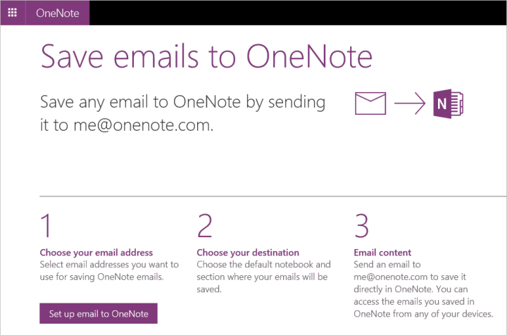 OneNote Emails