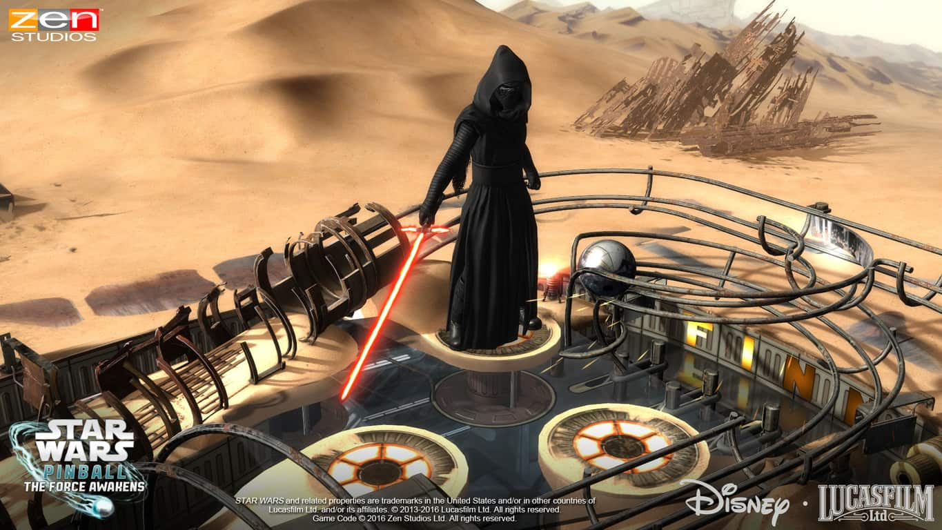 Star Wars: The Force Awakens pinball table on Xbox One and Windows 10