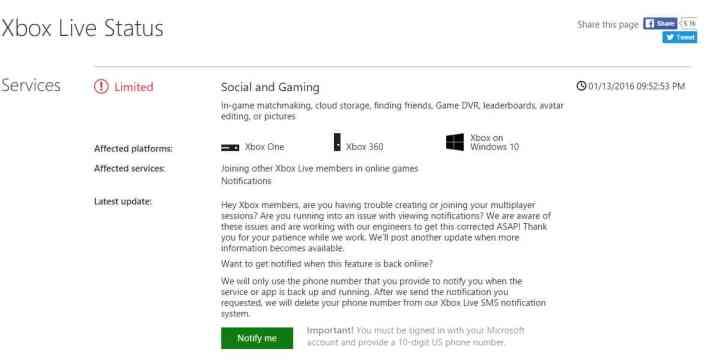 Xbox Live Status
