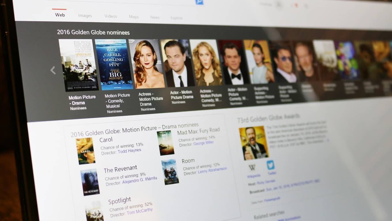 Bing Predicts Golden Globe Awards 2016