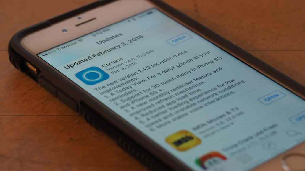Cortana for iOS updated, adds parking location reminders and more