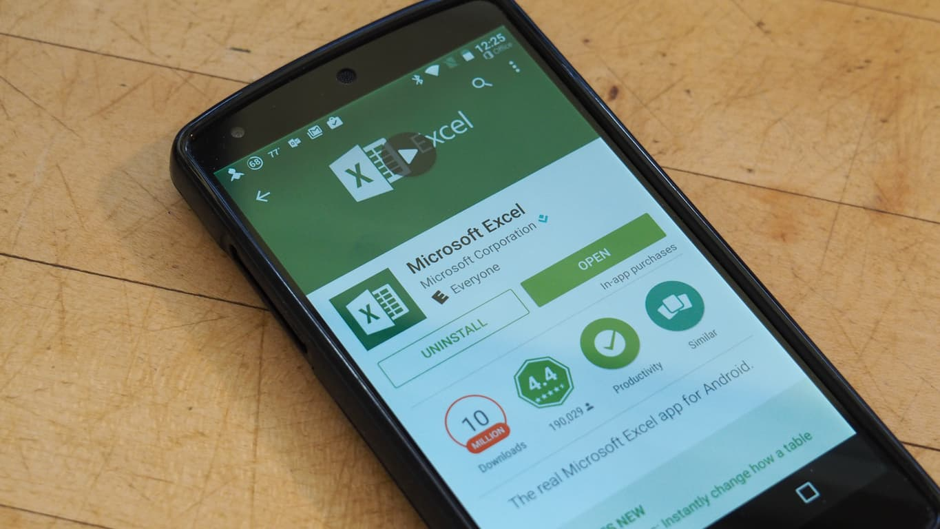 Excel for Android Featured