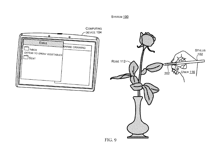 Surface Pen Patent Color Sensing Tip Sensing