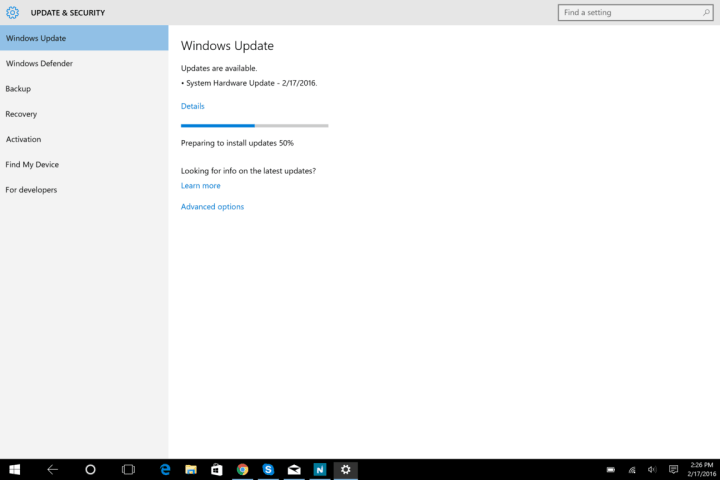 Surface Pro 4 Hardware Update 2_15_2016