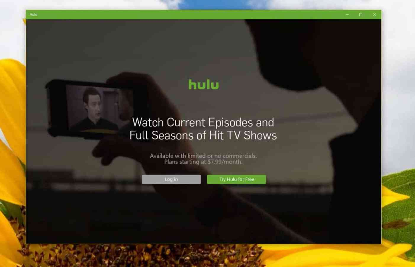 Windows 10 Hulu app