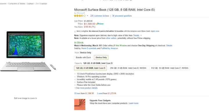 Amazon Surface Book Sale 3_28_2016