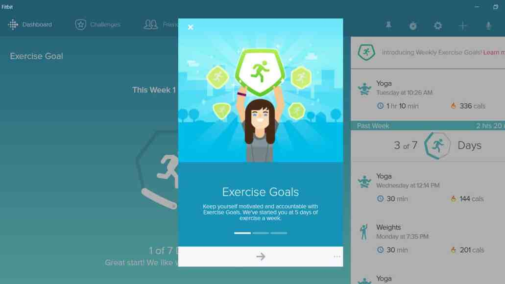 FitBit's Windows 10 app receives graphical redesign and new features