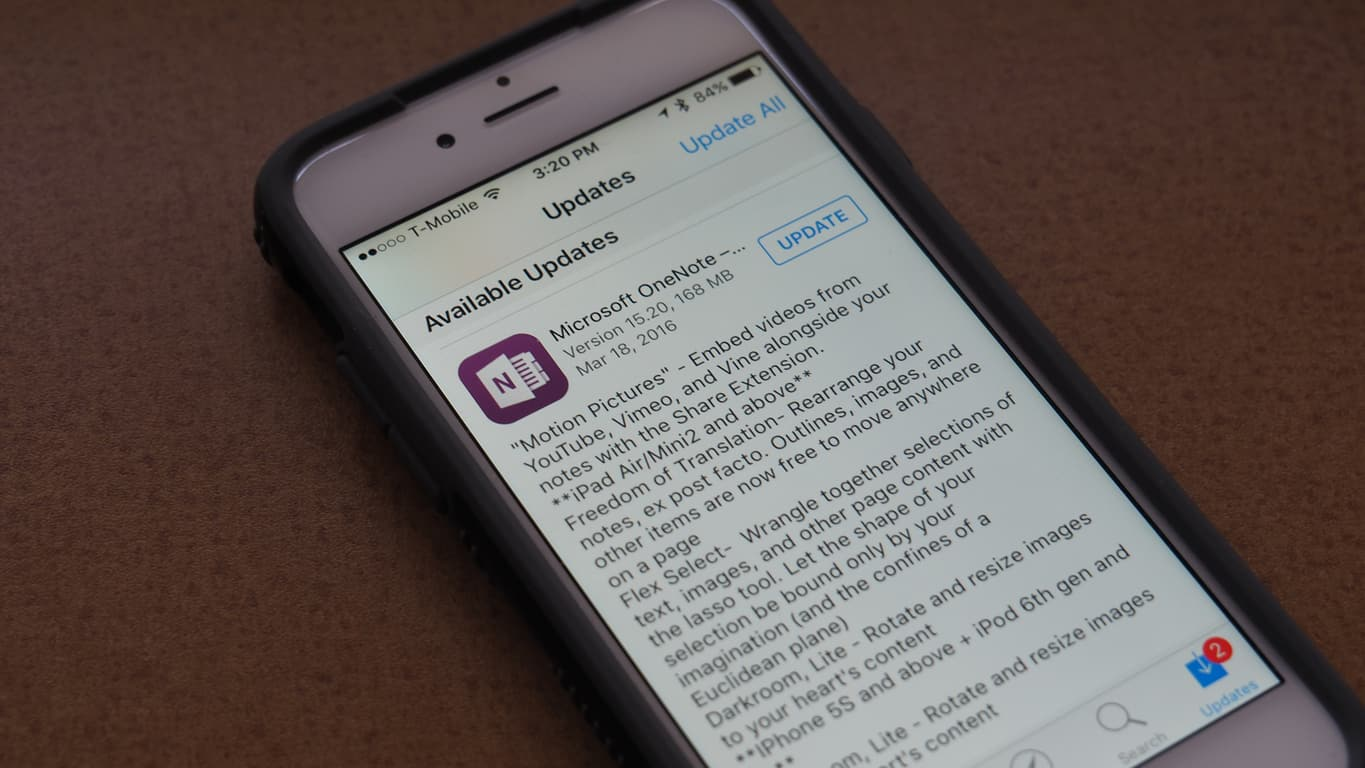 iOS OneNote Update Featured