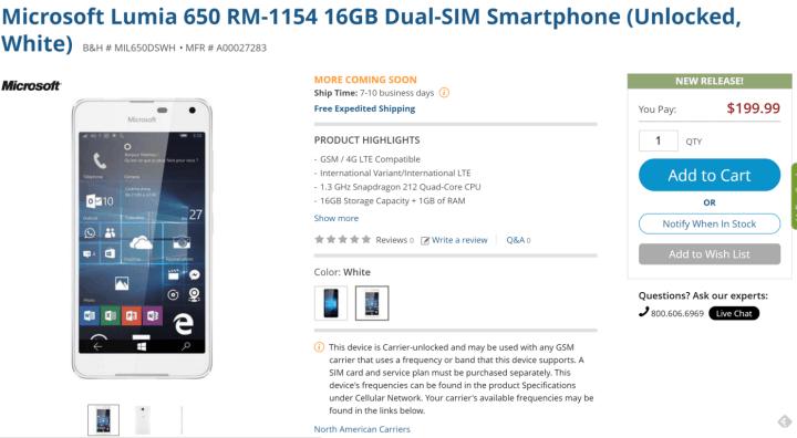 B_H Lumia 650