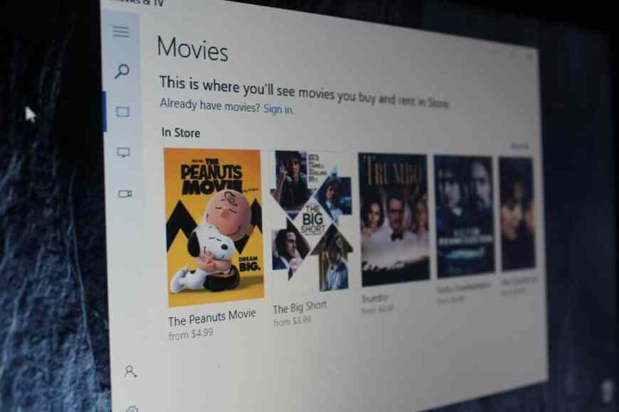 Movies & TV app for Windows 10 gets minor downloading
