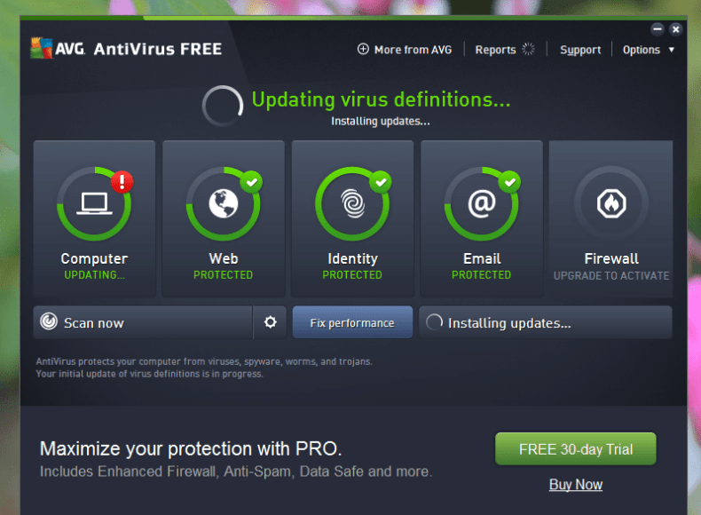 avg free scan in safe mode