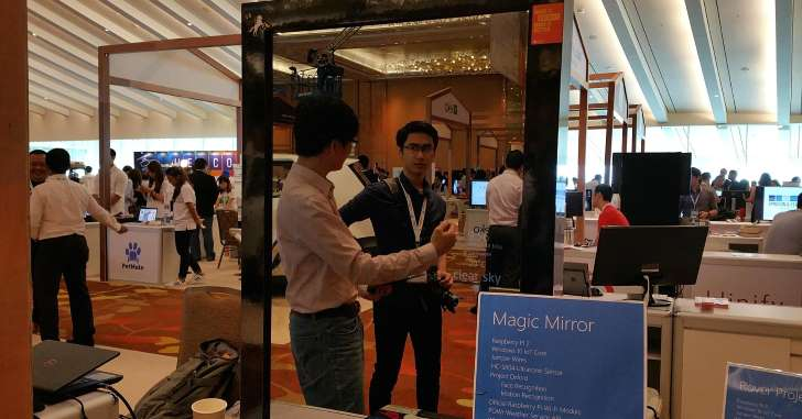 The Magic Mirror can tell if you're angry, sad, happy, etc.