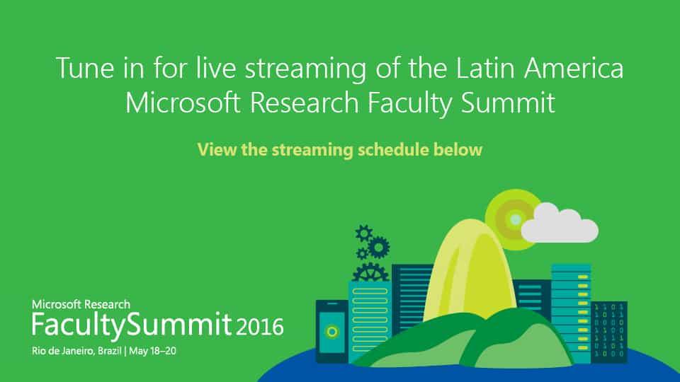 Faculty Summit 2016