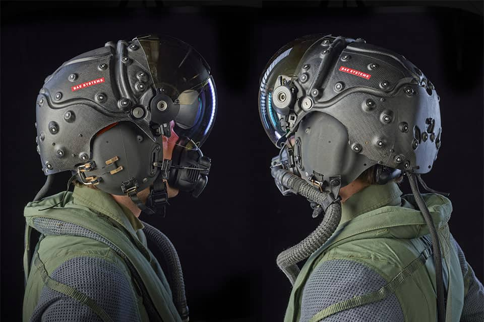 An example of a military type head mounted display