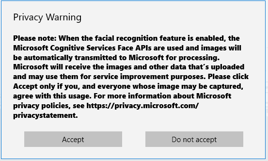 Microsoft outlines how face recognition can be integrated into a