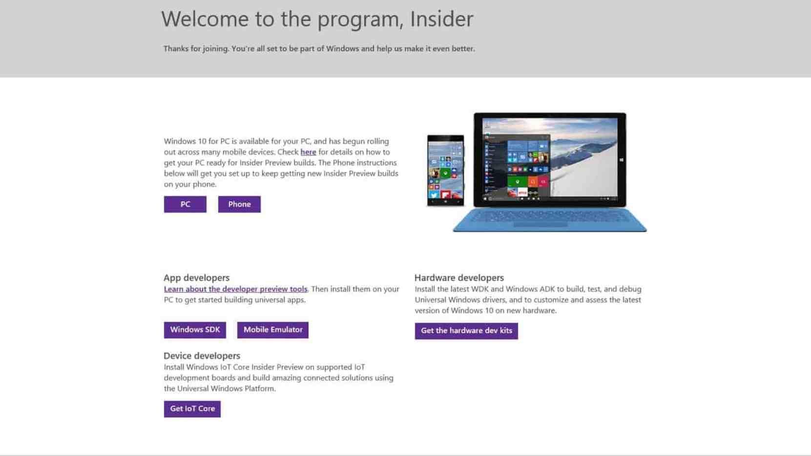 Several Windows Insider Previews