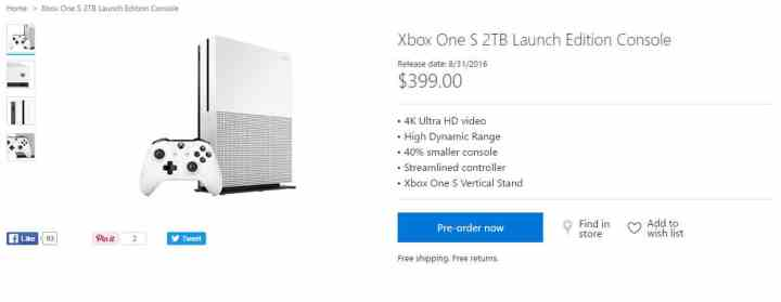 Xbox One S 2TB Launch Edition.