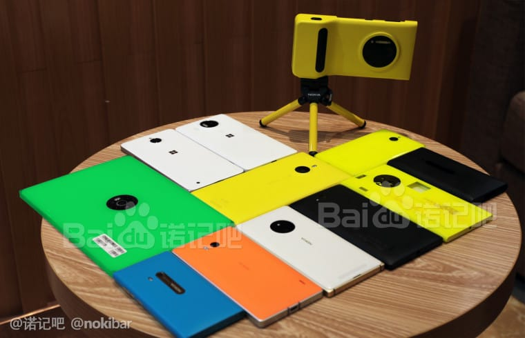 There are several unreleased Lumia devices in this picture.